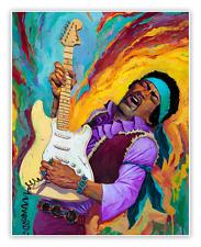 Jimi Hendrix Poster - Rich Pellegrino - Limited Edition of 100