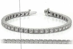 5-60-ct-ANTIQUE-Deco-Style-Diamond-Tennis-14k-White-Gold-Bracelet-0-15-ct-each