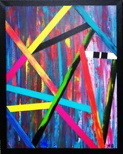 Tableau-abstrait-contemporain-40-x-50-cm-Original-signe-A-G