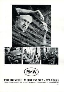 Tessitura RMW Dahl & hunsche insegne 1951 Wuppertal Barmen Rheinische möbestoff