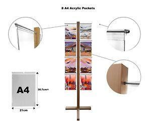 Agent Immobilier Fenêtre Affichage Crochet Sur Plus De Poche Stand A4 Portrait Expo Bureau-afficher Le Titre D'origine
