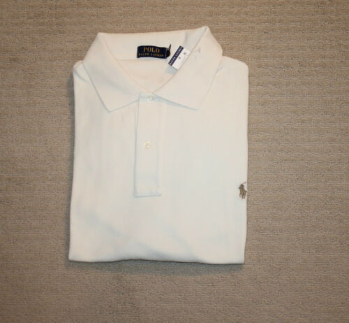 NEW Polo Ralph Lauren Big and Tall Pony Logo Classic Fit Cream Shirt