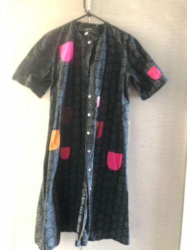 Marimekko Iloinen Takki pocket long coat dress 34