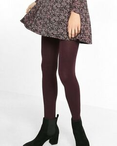 fb1979c143479 Express Women's Full Length Opaque Marled Tights Very Berry S/M New ...