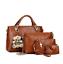 5Pcs//Set Women Lady Leather Handbags Messenger Shoulder Bags Purse Tote Satchel