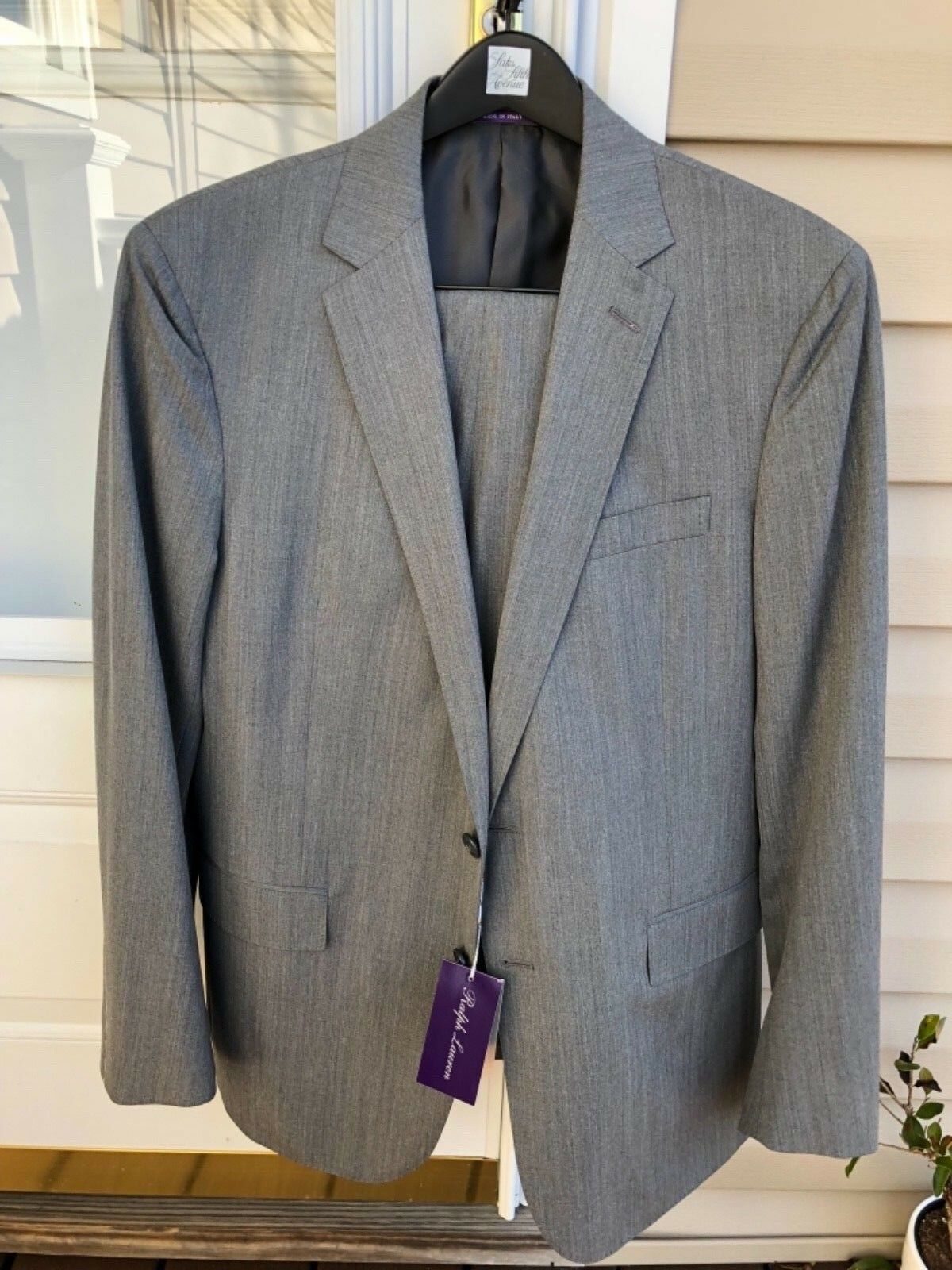 Brand New Ralph Lauren lila Label Suit 'Nigel' Grau 40 R