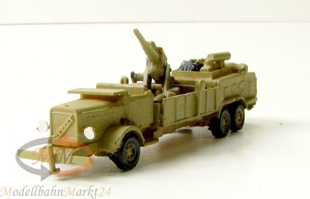 8,8 cm protetti su camion 2. guerra mondiale il tedesco militare stand modello scale 1:160