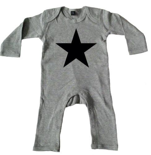 BLACK STAR· Rompasuit grey· Strampler