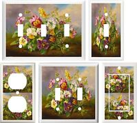 Colorful Pansies Flowers Home Decor Switch Or Outlet Cover V609