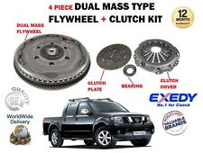 FOR NISSAN NAVARA D40 2.5 DCI YD25DDTI 2005-2010 DUAL MASS FLYWHEEL + CLUTCH KIT