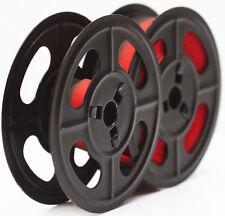 Vintage Metal Spools Red Black Ribbon For Olivetti Manual Portable Typewriter