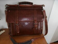 VTG Wilson Pelle Mens Leather Satchel Lawyer Laptop Messenger Document Bag