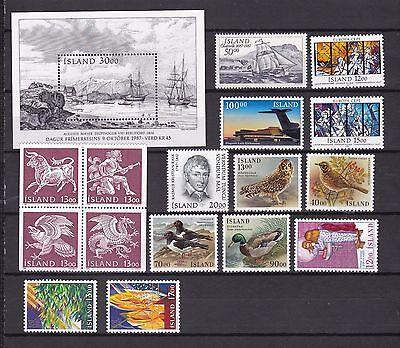 EntrüCkung Island Postfrisch Jahrgang 1987 Harmonische Farben Island