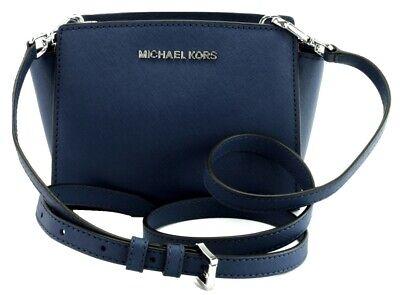Michael Kors Selma Cross Shoulder Body Bag Sapphire Blue Leather Mini  Handbag 192877692775   eBay