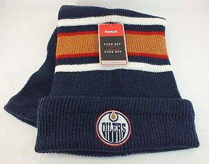 ece2a02c5d6 EDMONTON OILERS NHL KNITTED STOCKING HAT WINTER BEANIE NEW BY REEBOK ...