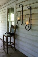 Huge Curling Iron Wall Candle Sconces,set Of Two,32''tall.