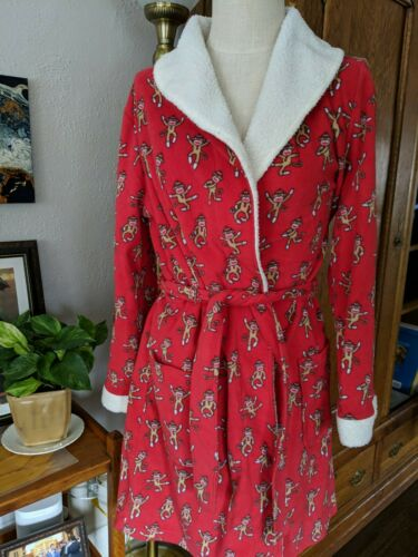 Boutique Toffee Apple Robe Women's Large Red Sock