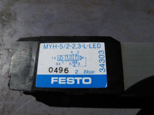 FESTO 34303 MYH-5/2-2,3-L-LED SOLENOID VALVE DC24 2-8BAR Business ...