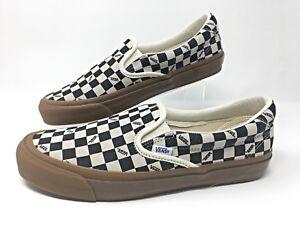 c4f52a5c81 Vans OG Slip-On 59 LX -Checkerboard-Suede Mens Skateboarding Shoes ...
