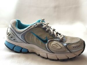 38b5c01124b7 Nike Zoom Vomero 3 Womens 6.5 Med Blue Silver Running Shoes 318595 ...