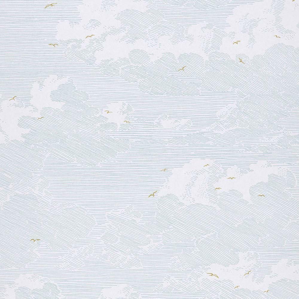 366063 - Geonature Vögel Wolken Himmel Himmelblau Weiß Eijffinger Tapete