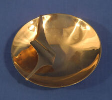 Vintage Mid Century Modern Design Bronze Ashtray Metal Arts Co. Rochester N.Y.