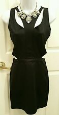 New Sexy,Cut out Waist, Neck Open Back SMALL Black Clubwear Party Pencil Dress