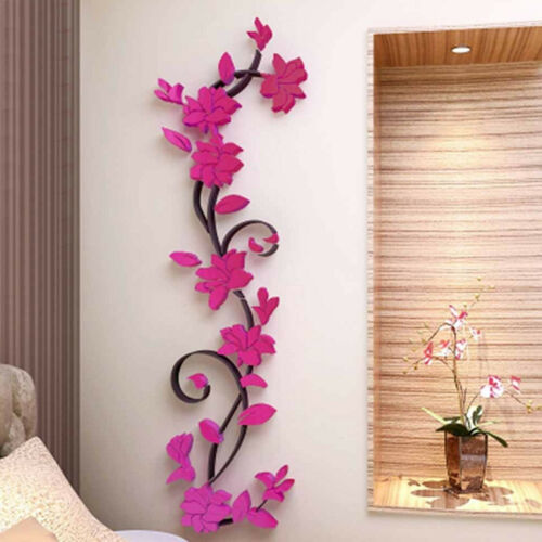 3D Flower Removable Mural Vinyl Quote DIY Wall Sticker Decal Home/&Room Decor US