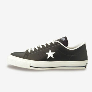 Details about Converse One Star J Leather Black Sneakers MADE IN JAPAN Limited Mega Rare