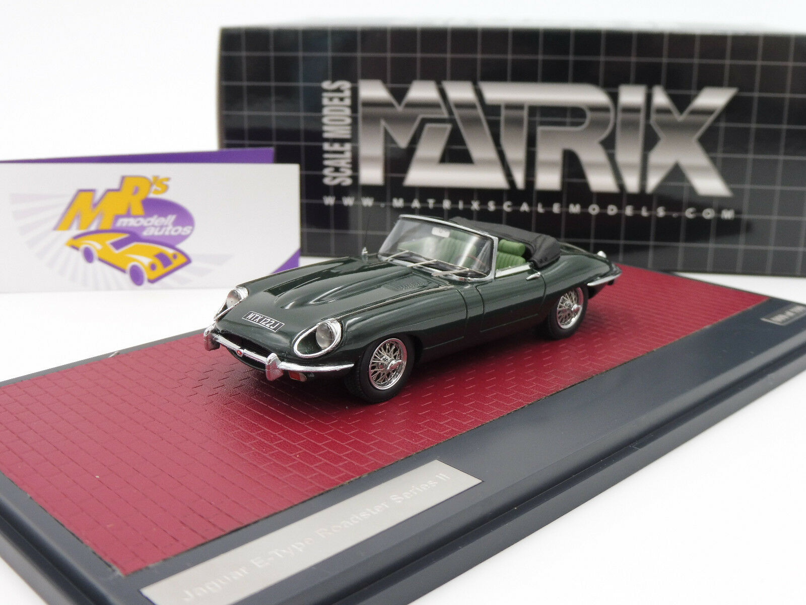 Matrix 11001-042 - Jaguar E- Type SII Roadsterr Baujahr 1962   grün   1 43 NEU    Queensland
