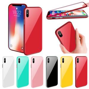 Magnetique-Mince-Coque-Housse-Pour-Samsung-iPhone-avec-Verre-trempe-Protective
