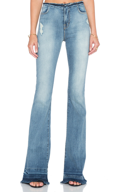 J BRAND Maria Deconstructed Flare Jeans - Drift - Sz 30 -  257