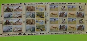 Stamps * UNITED NATIONS * Endangered Species * MNH * 1993 * 3 Sheets of 16 each