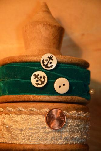 Kleine schwarze Maritime Anker Knopf Knöpfe 1,3cm 13mm 10 Stück Eyecatcher