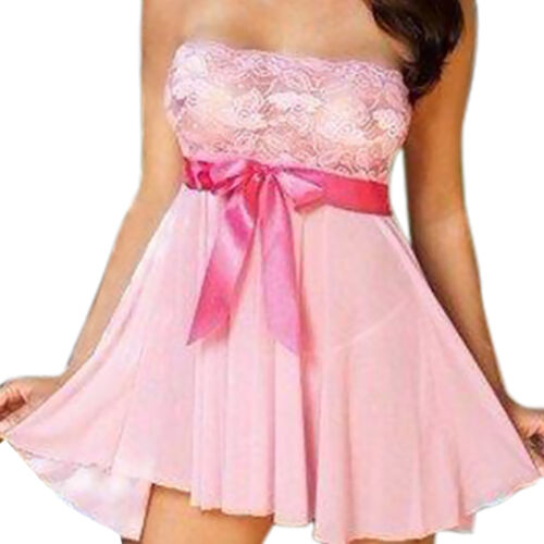 Christmas Women Sleepwear Baby doll Dress Lingerie Nightwear Nightdress G String