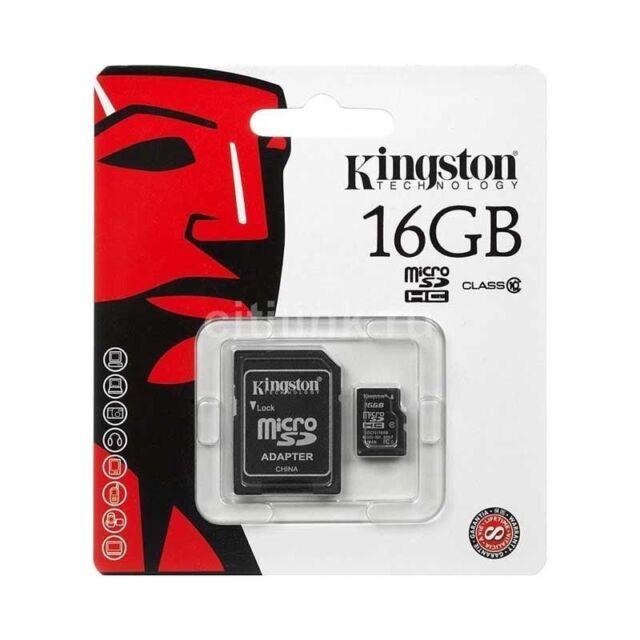 KINGSTON MICROSD 16GB TransFlash 16 GB Micro SD SDHC classe 10 Retail SDC10/16GB