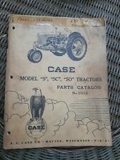 1948 Ji Case S Sc So Tractor Parts Catalog Manual Book D213 Covers Other Years