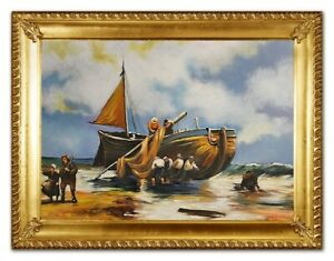 Oil-Painting-Pictures-Hand-Painted-with-Frame-Baroque-Art-G96402