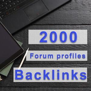 2000 Forum Profile High Quality Backlinks Website Backlinks