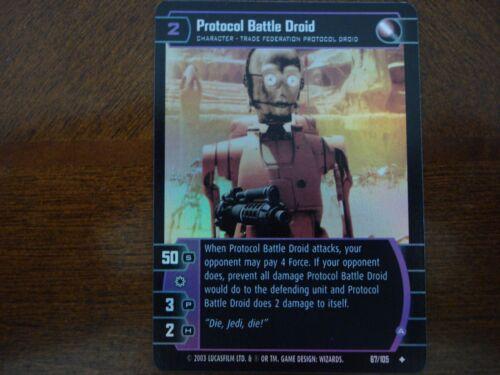 Star Wars TCG JG Protocol Battle Droid FOIL 67//105
