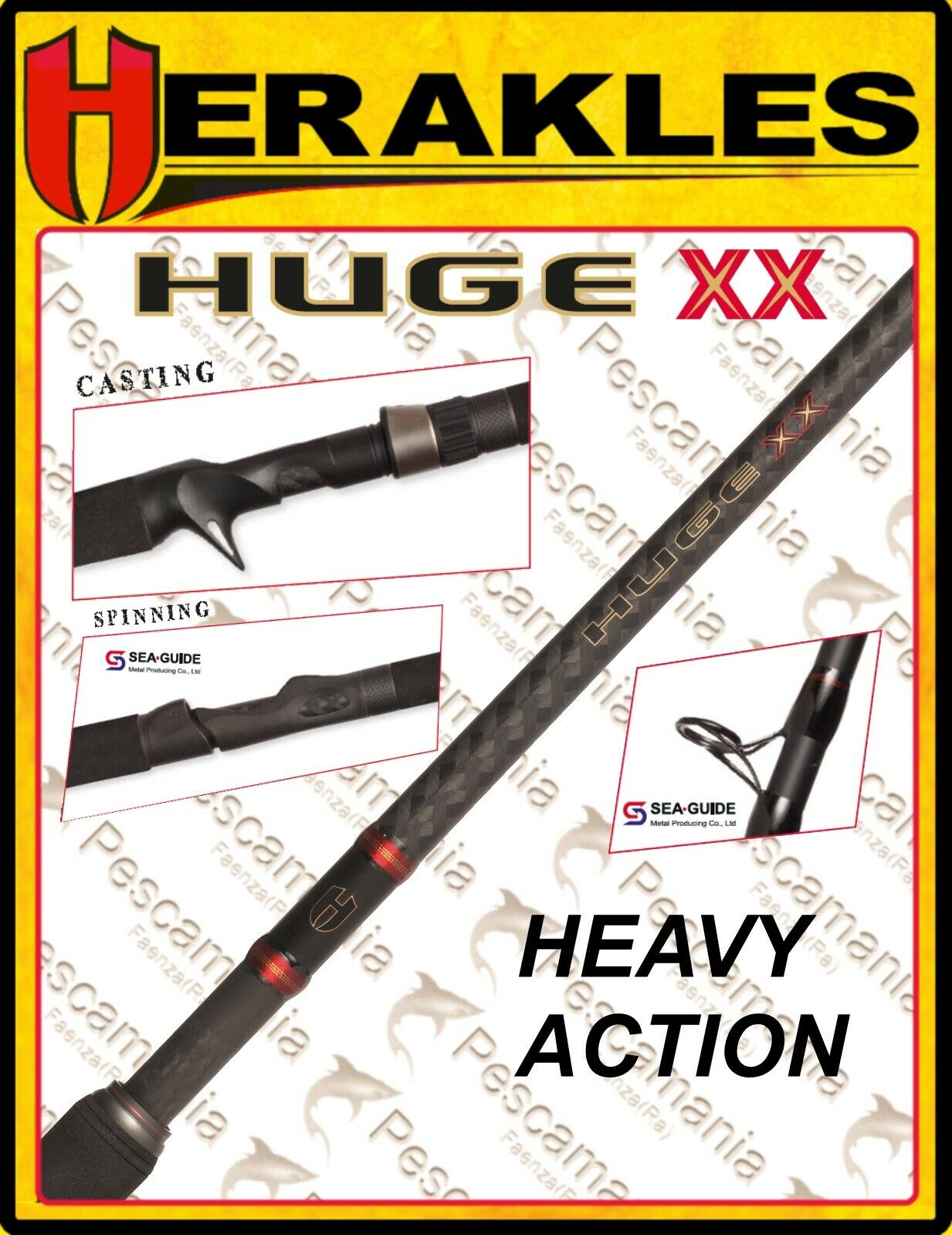 Canna Colmic Herakles nuovo Huge XX spinningcasting heavy azione
