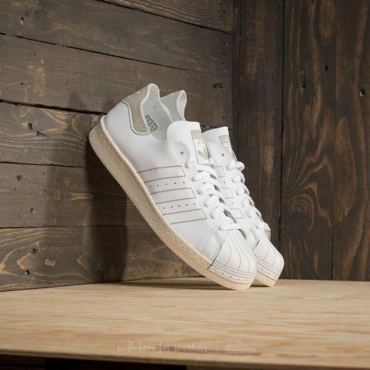 Nuove adidas originali superstar anni '80 scarpe decontaminazione Uomo 10 44 scarpe '80 di pelle bianca, scarpe da ginnastica 24e460