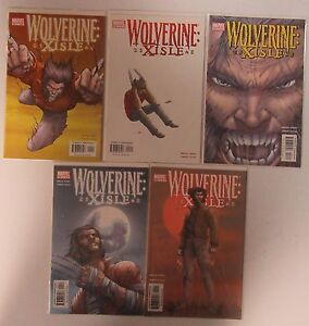 wolverine xisle compete mini series 1 2 3 4 5 first prints vf f