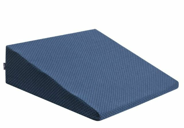 DJMed Body Support Bed Wedge Pillow Cushion - Foam Dual Layer, Removable Cover