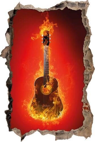 tapisserie Ardente guitare-percée dans 3d-Look décoration