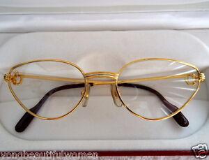 833472fda680b NEW Cartier Louis Beautiful  CATS EYE  18K Heavy Gold   Platinum ...