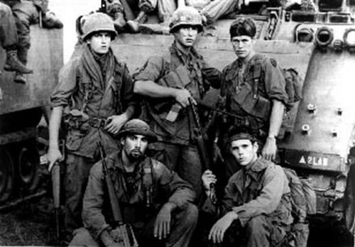 Platoon Group Picture Black and White High Quality Photo