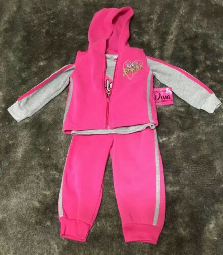 NWT Toddler Girl 3 Piece Outfit Size 2T