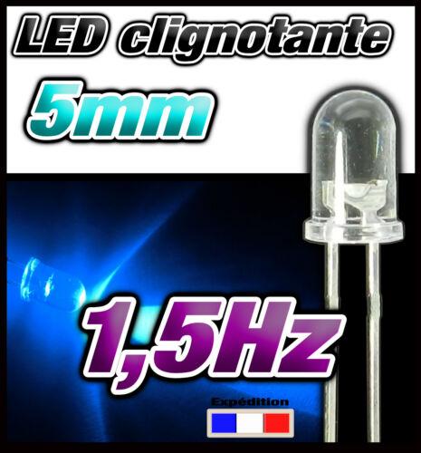 25 ou 100pcs 434# LED 5mm clignotante bleu ronde dispo 10