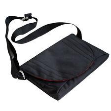 Black Travel Slim Nylon Cross Body Messenger Bag for Google Nexus 7 inch Tablet